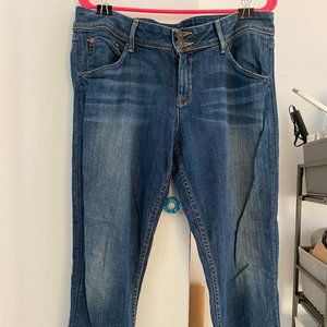Hudson Skinny Jeans Size 14 with Union Jack Detail